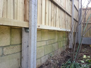 Close Board panel fencing